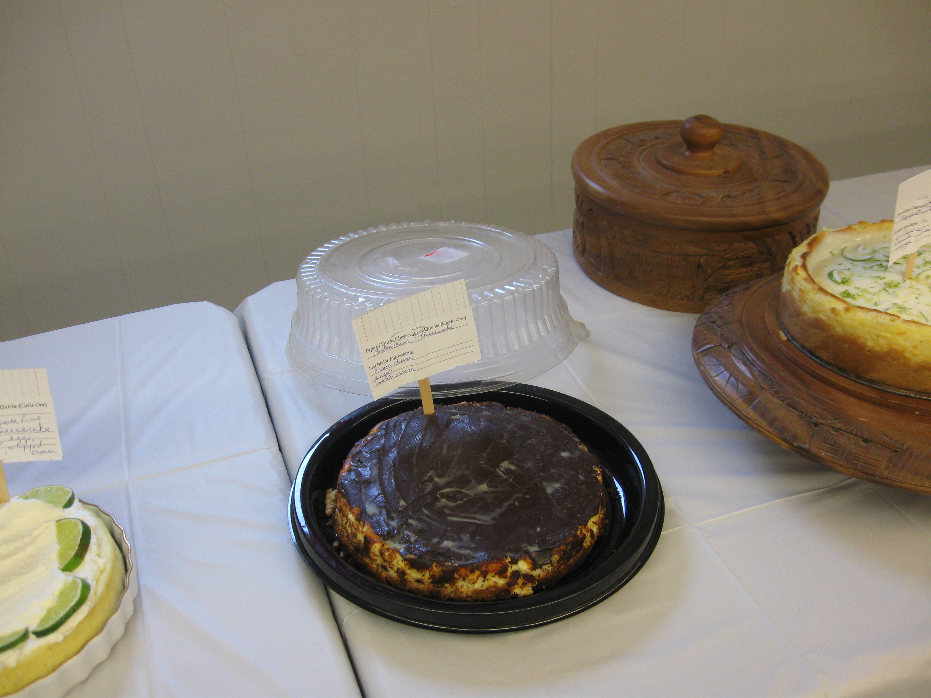 2018 Cheesecake & Quiche Contest - Town of Pittsfield, Maine